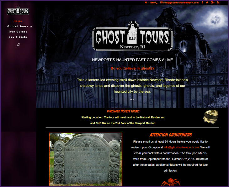 Web Design Portfolio - Ghosts of Newport